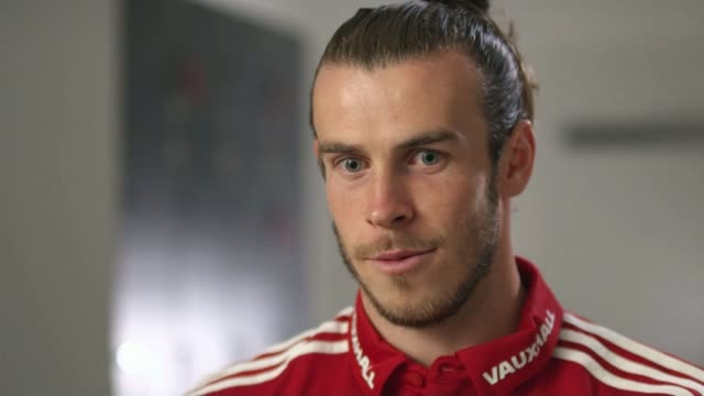 Wales beat Belgium to reach semifinals Location unknown INT Gareth Bale interview SOT Lille EXT Wales players taking a walk through the city Various...