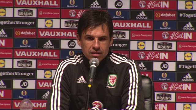 wales team return chris coleman press conference chris coleman press conference sot coleman leaving - euro 2016 stock videos and b-roll footage