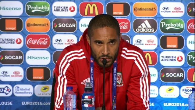 welsh prepare for match against russia; toulouse: int ashley williams press conference sot - it was important that the next day we got it outr of our... - toulouse stock videos & royalty-free footage