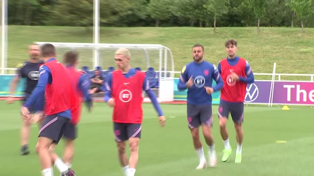 england team training; england: staffordshire: st george's park: ext gvs england team training - players coming out onto training pitch / players... - teacher stock videos & royalty-free footage