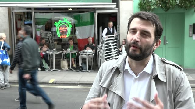 england vs italy final build-up; england: london: east london: int gvs staff making fresh pasta gv barista behind counter close shot batter squeezed... - tilt up stock videos & royalty-free footage