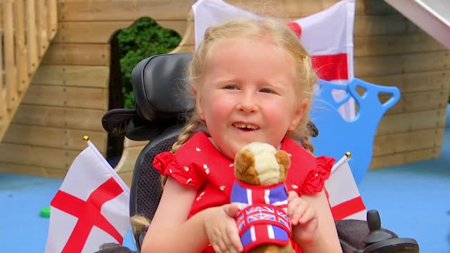 euro 2020 final build up: england captain harry kane's support for haven house children's hospice; england: london: woodford green: haven house... - cute stock videos & royalty-free footage