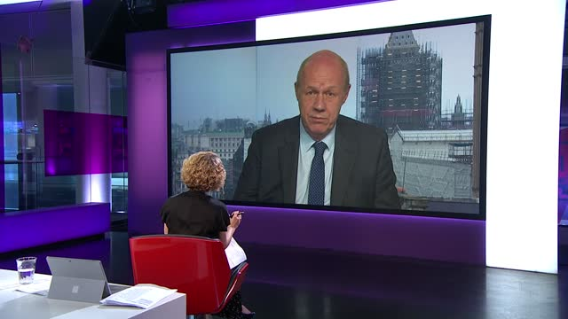 italy beat england / england players receive racist abuse; england: london: gir: int damian green mp live 2-way interview from westminster sot - [on... - channel 4 news stock-videos und b-roll-filmmaterial