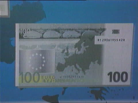 no queen's head; ?: int css prototypes of new euro banknotes - money politics stock videos & royalty-free footage