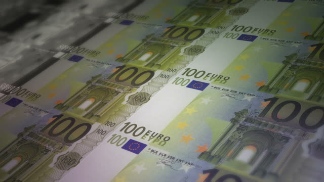 Euro banknote printing paper money