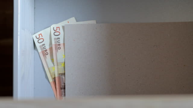euro banknotes in drawer - hiding stock videos & royalty-free footage
