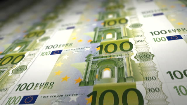 100 euro banknotes - euro symbol stock videos and b-roll footage