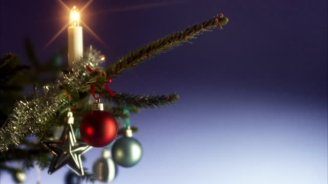 a euro bill in a christmas tree. - christmas decore candle stock videos & royalty-free footage