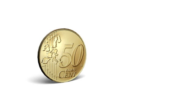 euro cent - european union coin stock videos & royalty-free footage