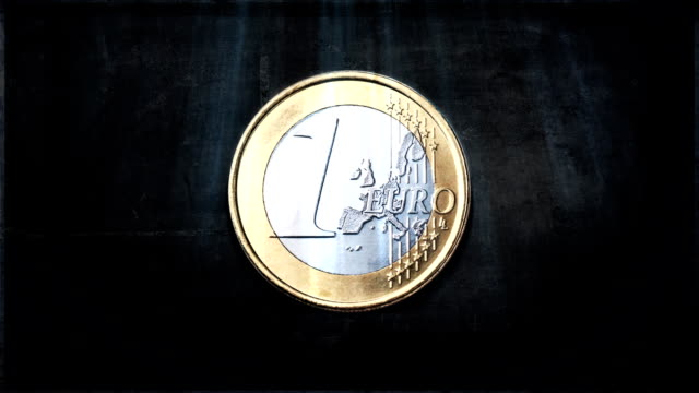 euro coin texture - european union coin stock videos & royalty-free footage
