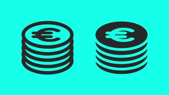 vidéos et rushes de monnaie - vecteur animé - symbole