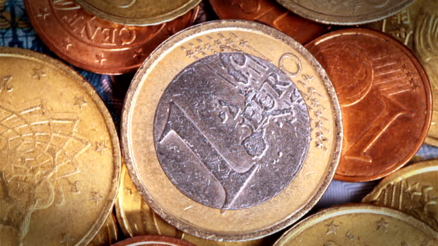 euro coins rotation - classified ad stock videos & royalty-free footage