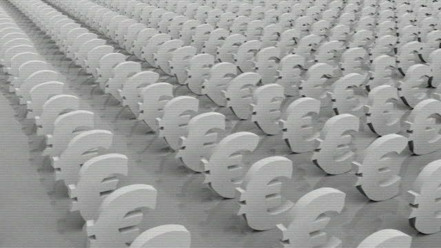 euro currency symbol old tv - currency symbol stock videos & royalty-free footage