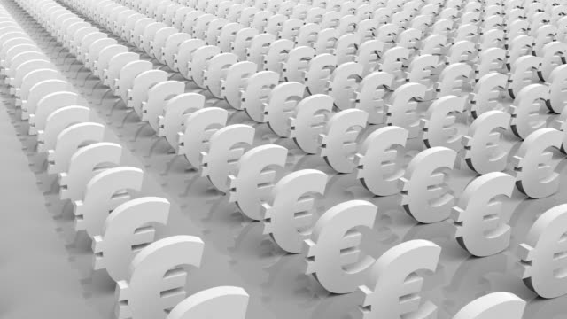 euro currency symbol - currency symbol stock videos & royalty-free footage