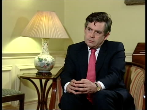 london downing street number 11 gordon brown mp interviewed sot treasury's making report to cabinet cabinet discussions then parliament will be told... - number 11 stock videos and b-roll footage