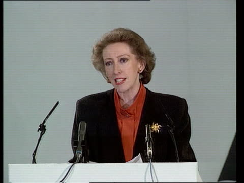 euro election manifestos launched cms margaret beckett mp pkf sot election will be a referendum on major his govt westminster methodist central hall... - strohhut stock-videos und b-roll-filmmaterial