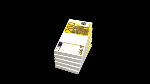 euro, money, notes, money paper, banknote - vector stock videos & royalty-free footage