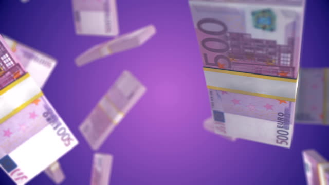 euro money rotating and transition with luma matte alpha channel - seamless loop - stock video - bill legislation stock videos & royalty-free footage