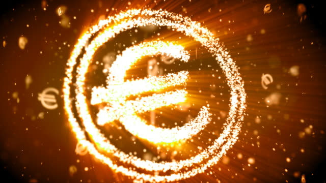 euro sign background - euro symbol stock videos and b-roll footage