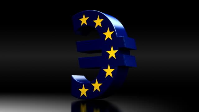 stockvideo's en b-roll-footage met euro spin - investering