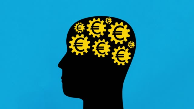 euro thoughts - human head stock videos & royalty-free footage