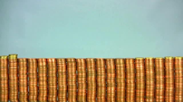 hd: euro - moneta da 5 centesimi statunitensi video stock e b–roll