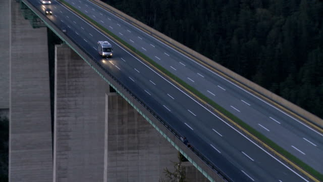 europa bridge, brenner pass at dusk - brenner pass stock videos and b-roll footage