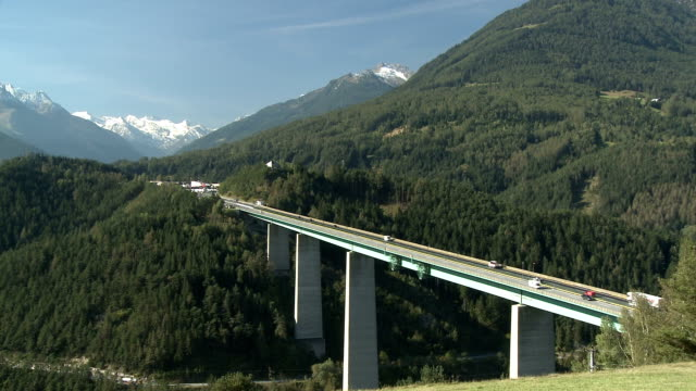 europa bridge, brenner pass - brenner pass stock videos and b-roll footage