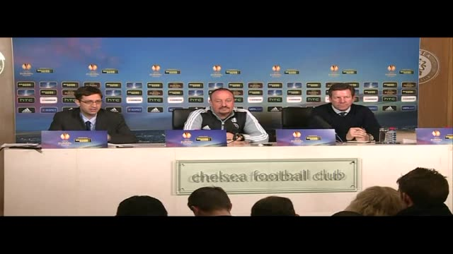 vídeos y material grabado en eventos de stock de chelsea press conference benitez press conference sot - unión europea de las asociaciones nacionales