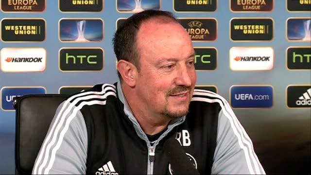 Chelsea press conference More Benitez press conference SOT / Benitez leaving press conference