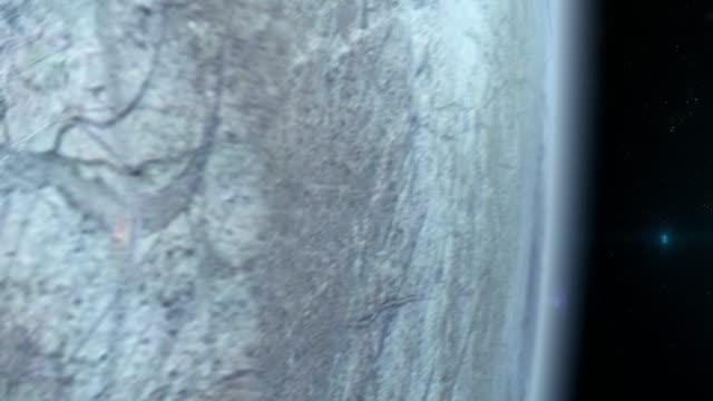 Europa månen ytan sett från rymden