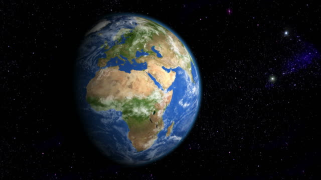 europe & africa from space - map stock videos & royalty-free footage