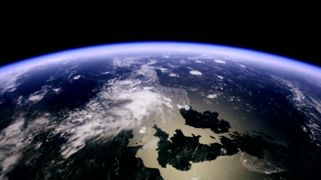 europe and the uk from space - satellite stock videos & royalty-free footage
