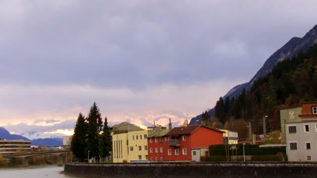 europe, austria, tyrol, kufstein, view of austrian homes - 北チロル点の映像素材/bロール