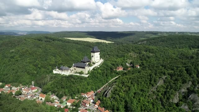 europe, czech republic, karlstejn castle - czech republic stock videos & royalty-free footage