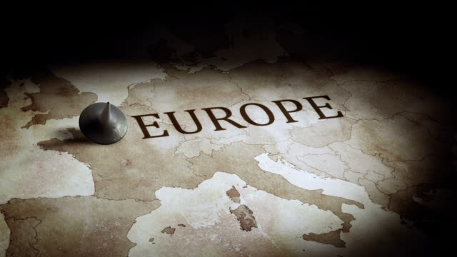 europe economy map - europe stock videos & royalty-free footage