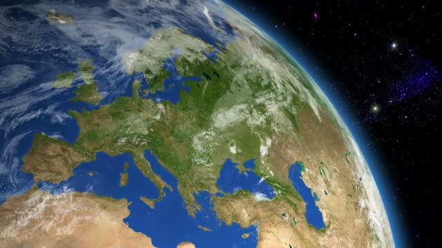 vidéos et rushes de l'europe depuis l'espace - europe