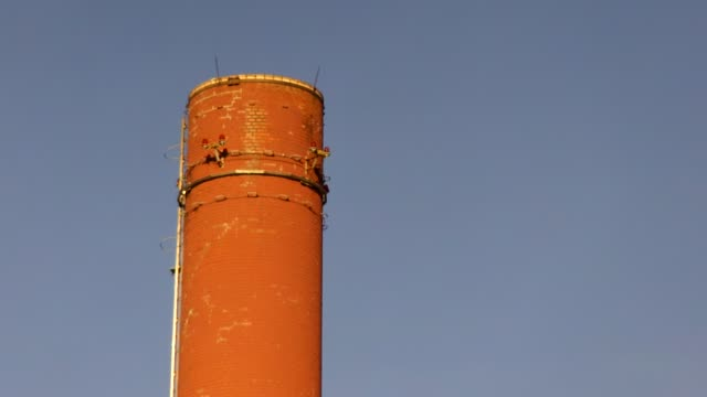 Europe, Germany, Bavaria, Rosenheim, View Of Industrial Chimney