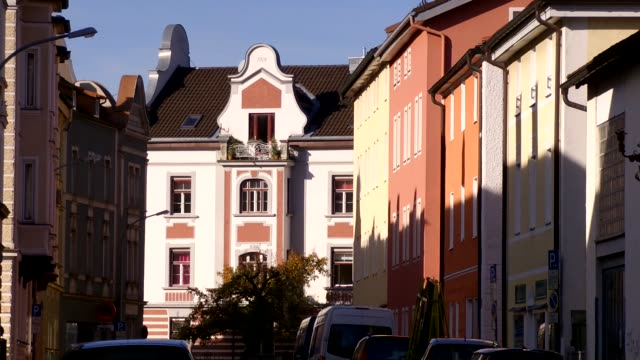 europe, germany, bavaria, rosenheim, view of old house - old town stock videos & royalty-free footage