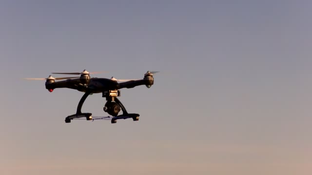 Europe, Germany, View Of Drone With Camera Flying, Airborne