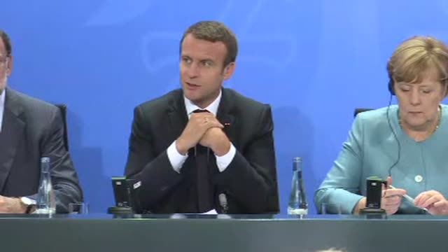 europe is firmly committed to upholding the paris climate accord france's president emmanuel macron says voicing hopes that sceptics like us... - group of 20 stock videos & royalty-free footage