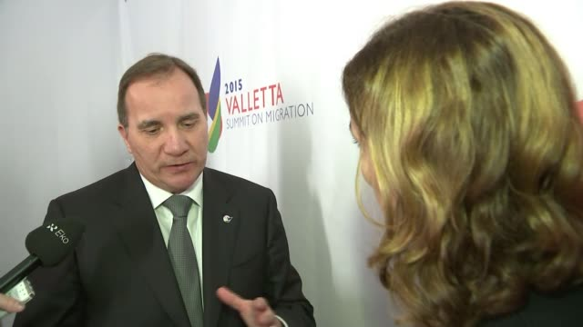Threat to the EU's open borders policy Stefan Lofven interview SOT Talks of the European Union being damaged by the collapse of the Schengen...
