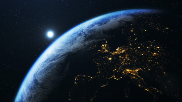 europe seen from space - planet space stock videos & royalty-free footage