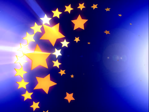 europe stars background (pal 25p) - star shape stock videos & royalty-free footage