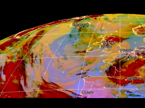 european air traffic faced growing disruption saturday as an ash cloud from an iceland volcano threatened to close airports as far east as spain's... - southern european stock videos & royalty-free footage
