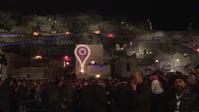 european capital of culture status has shone a spotlight on italy's oldest city whose previous claims to fame were as a cinematic new jerusalem but... - bassifondi video stock e b–roll