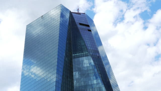 european central bank building in frankfurt - european union stock videos and b-roll footage