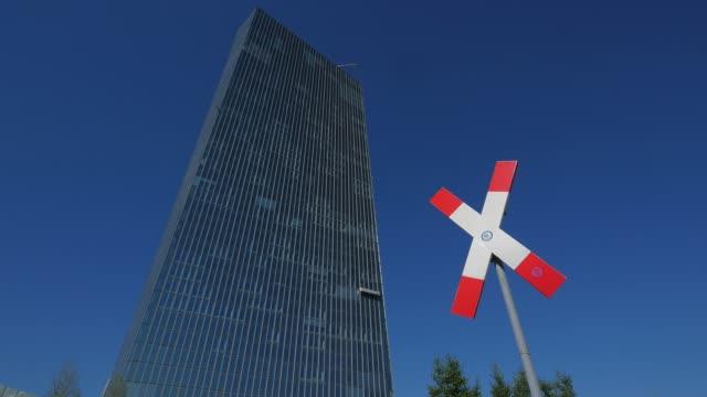 vídeos de stock e filmes b-roll de european central bank, ecb, frankfurt am main, hesse, germany - alemanha