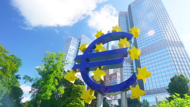 欧州中央銀行,frankfurt - 中央銀行点の映像素材/bロール