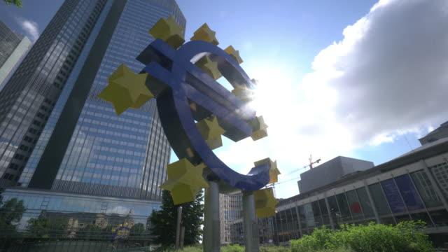 european central bank, frankfurt - frankfurt stock exchange stock videos and b-roll footage